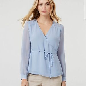 Brand new wrap tie blouse